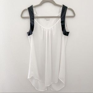 Socialite White Sleeveless Sheer Top S